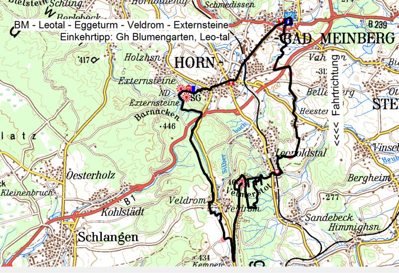 externsteine karte MTB Routen und GPS Tacks Teutoburgerwald
